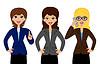 drei erfolgreiche Geschäftsfrau