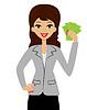 erfolgreiche Business-Frau mit Geld in Händen