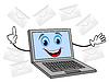 fröhlich Notebook bekommen viel Brief