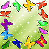 Векторный клипарт: красивый фон с бабочками