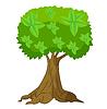 Векторный клипарт: Дерево с зеленой короны