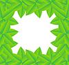 Векторный клипарт: фон с зелеными листьями