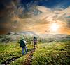 在山背包客 | 免版税照片