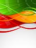 抽象的彩色背景 | 向量插图