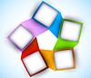 Abstrakt Diagramm mit Quadraten | Stock Vektrografik