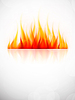 Background with fire | Stock Vector Graphics