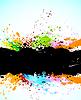 抽象画背景 | 向量插图