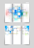 Векторный клипарт: Три раза дизайн брошюры