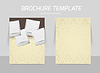 Векторный клипарт: Спереди и сзади дизайн шаблона флаер