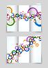 Векторный клипарт: Три раза шаблонов дизайна брошюры