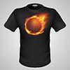 Male T-Shirt mit Print