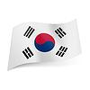 Staatsflagge von Südkorea