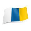 Vektorbild, Flagge Kanarische Inseln