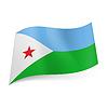 Staatsflagge von Dschibuti