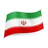 Staatsflagge des Iran