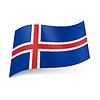 Staatsflagge von Island