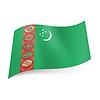 Staatsflagge von Turkmenistan