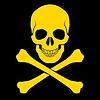Schädel und gekreuzten Knochen