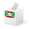 Wahlurne mit Stimmzettel. Burundi