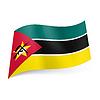 Staatsflagge von Mosambik