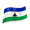 Staatsflagge von Lesotho