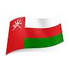 Staatsflagge von Oman