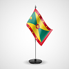 Table flag of Grenada | Stock Vector Graphics