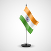 Table flag of India | Stock Vector Graphics