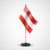 Table flag of Austria | Stock Vector Graphics