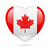 Herz-Symbol von Kanada