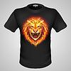 Male T-Shirt mit Löwenmotiv