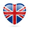 Herz-Symbol von Großbritannien
