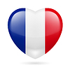 Herz-Symbol für Frankreich