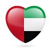 Herz Symbol der Vereinigten Arabischen Emirate