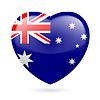 Herz-Symbol von Australien