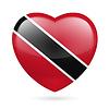 Herz-Symbol von Trinidad und Tobago