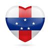 Herz Symbol der Niederländischen Antillen
