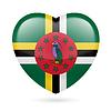 Herz-Symbol von Dominica