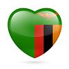 Herz-Symbol von Sambia