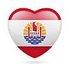 Herz-Symbol von Französisch-Polynesien