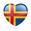 Herz-Symbol Aland-Inseln