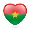 Herz-Symbol von Burkina Faso