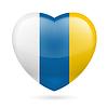 Herz Symbol der Kanarischen Inseln