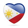 Herz Symbol der Philippinen