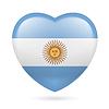 Herz-Symbol von Argentinien
