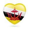 Herz-Symbol von Brunei