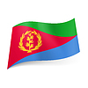 Staatsflagge von Eritrea