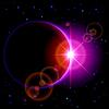 Dunkle Planeten mit Flare