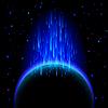 Dunkle Planeten mit Sterne-Dusche