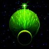 Zwei Planeten und Sterne-Dusche
